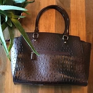 Dasein Satchel Purse Faux Crocodile & Ostrich